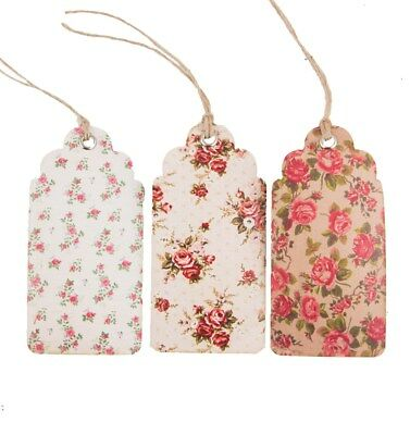 Set Of 15 Sass & belle Shabby Chic Vintage Rose Gift Tags/Labels Craft