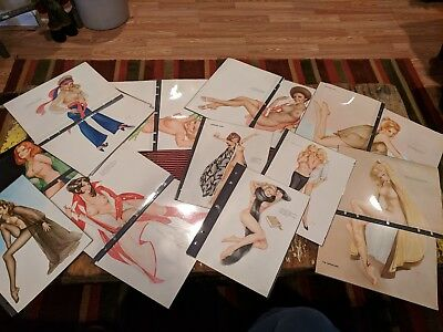 HUGE LOT OF 112 PLAYBOY ALBERTO VARGAS PINUPS FROM 1960's 1970's GIRLS PIN-UP