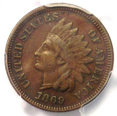 1869 Indian Cent 1C Coin - PCGS VF Details - Rare Early Date Certified Penny!