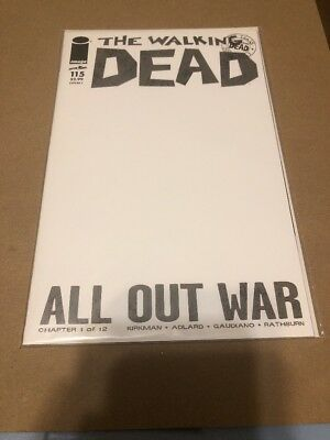 The Walking Dead #115 Cover L BLANK Variant 1st Print  All Out War New Nice