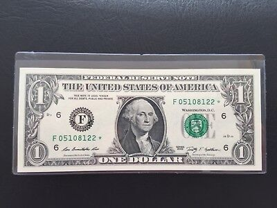 Wow Star note 2009 $1 DOLLAR BILL ( Atlanta '' F '' ) ,UNCIRCULATED