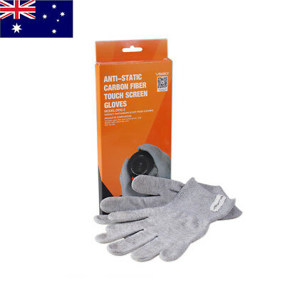 VSGO 1 Pair Nylon Anti-Static Carbon Fiber Touch Screen Camera Cleaning Gloves