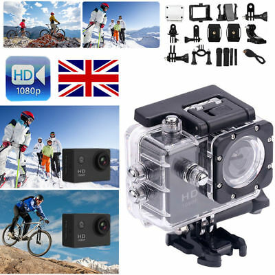 Bike Motor Cycle Action Helmet Sports Camera DV Cam HD 1080P For Gopro UK SILVER