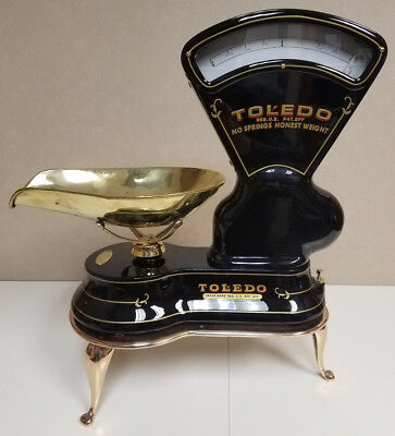 Antique Toledo Candy Scale in Black & Brass. MINT CONDITION