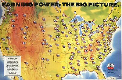1991 2 Page Print Ad of Pioneer Hybrid Corn Seed Earning Power: The Big Picture