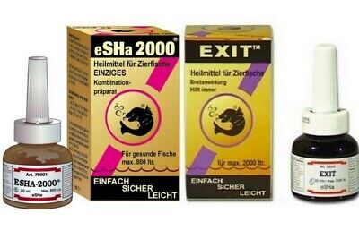 Lot De Un Esha 2000 Traitement Contre Maladies 20 Ml+  Un  Exit 20Ml