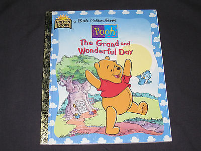 Little Golden Book  Pooh, The Grand and Wonderful Day  Birthday