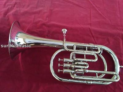 AltoHorn in Silver Chrome Nickle 3 Valve With Free Casebox & MouthPc. & Shipping