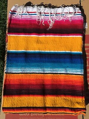 Authentic Mexican Multi-color Serape Blankets. specify picture 1 or 2 ordering