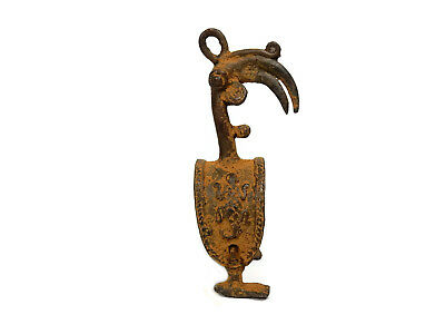 Antique African Cast Bronze Tribal Rare Ashanti Akan Bird Shape Pulley