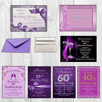 Birthday Invitations• Personalised Party Invites• 18th 21st 30th 40th 50th 60th