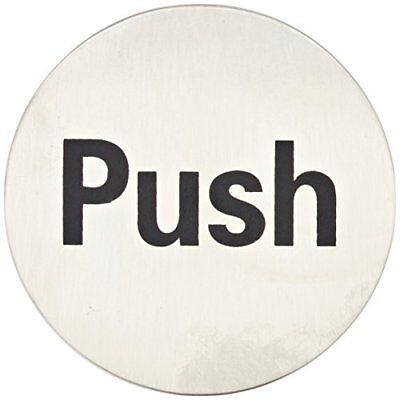 Stalwart U063 Door Sign Push, Stainless Steel