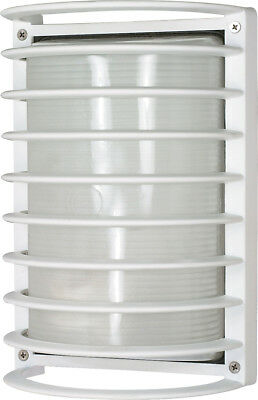 "Nuvo 1 Light CFL 10"" Rectangle Cage Bulk Head (1) 18W GU24 Lamp Included"