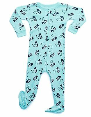 Size 6M-5Y Leveret Baby Boys Train Footed Sleeper Pajama 100/% Cotton