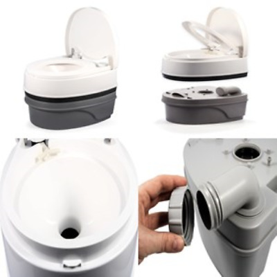 Rv White Camco Camping Toilet Portable Potty Boating Compost 5.3 Gallon