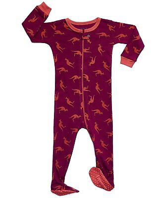 7f8d591f0 LEVERET BABY BOYS Sharks Footed Sleeper Pajama 100% Cotton (Size 6M ...