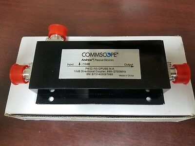 Commscope C-10-CPUSE-N-A 10dB Directional Coupler 698-2700MHz NEW!