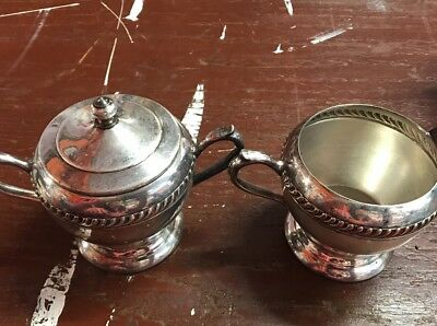 FB Rogers 1883 Silver Co. Tea/Coffee Sugar &Creamer set