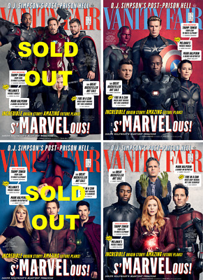 Vanity Fair Magazine (Holiday 2017/2018) Marvel Special - 4 Covers (NEW)