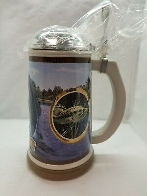 2004 Anheuser Busch Largemouth Bass Lidded Stein CS624