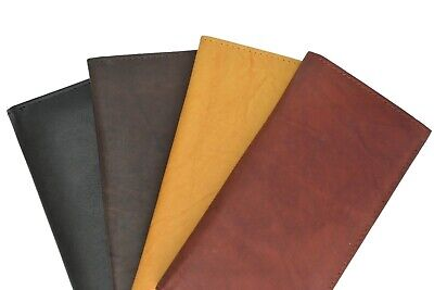 New Hand make Genuine Soft Leather Checkbook Cover with Duplicate Flap