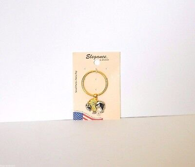 Buffalo Metal Ornament On Key Ring Elegance By Sunburst Brand New USA Made