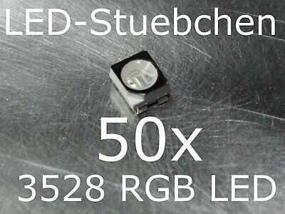 20x 3528 RGB SMD LED PLCC4 Black Face