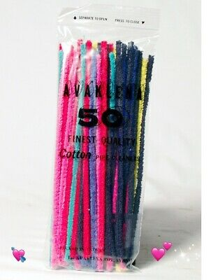 "Aztec 50pcs Coloured Cotton Pipe Cleaners 6"" Smoking Tobacco Intensive Cleaning"