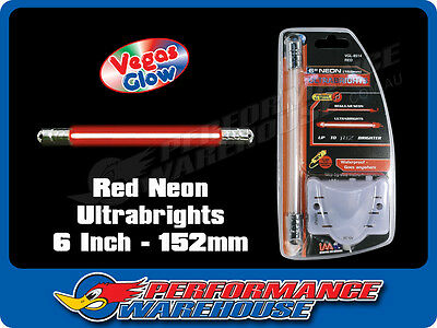 Vegas Glow Ultrabrights 6 Inch Neon Red Pulses To Music Car Ute Boat