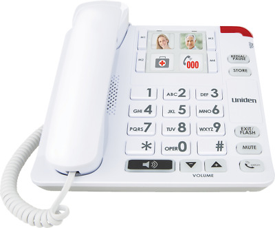 Uniden SSE34 Sight & Sound Enhanced Corded Phone System