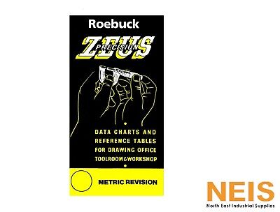Zeus Precision Engineers Metric Data Book Chart Charts Reference Tables Roebuck