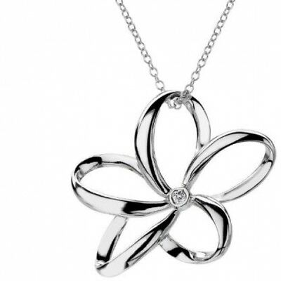 Hot Diamonds Paradise Open Petal Pendant With Sterling Silver Trace Chain Of Cm