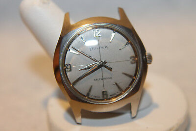 Vintage M5 Mens Bulova Watch 17j 11 ALAC Automatic Stainless Steel Running 32mm