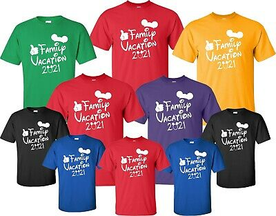 FAMILY VACATION T-Shirts New Disney Shirt 2019 Mickey & Minnie Matching world