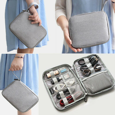 Electronic Accessories Organizer Bag Travel Cable USB Charger Storage MN
