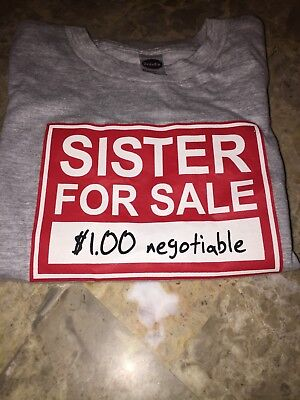 Sister For Sale gray t-shirt Size 4