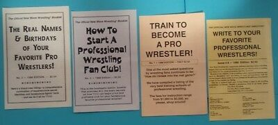 Vintage Very Rare Official New Wave Wrestling Booklets Lot Of Four 1998 Great
