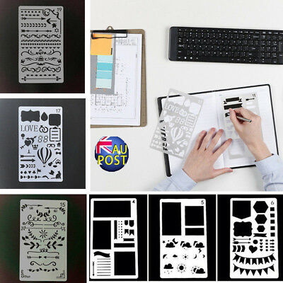 12/20 Drawing Template Bullet Journal Stencil Plastic Planner DIY Diary Craft M