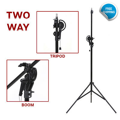 """110"""" 2 Way Photography Rotatable Photo Studio Boom Stand Continuous Lighting"""