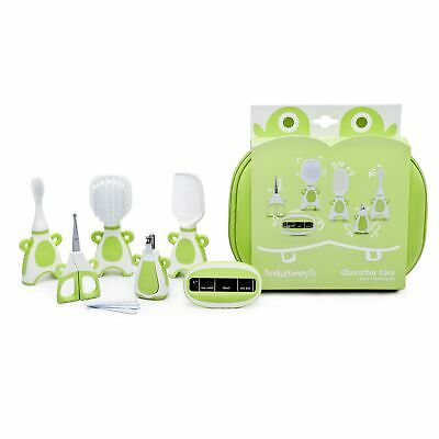 The Neat Nursery Co. Baby Hair Brush/Nail Clippers/Toothbrush Grooming Kit Green