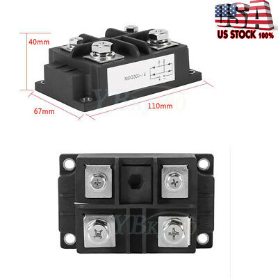 New 60-400A High Power 1600V Single Phases Diode Bridge Rectifier Optional