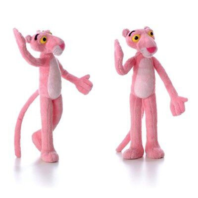 USA Pink Panther Posable Bendable Soft Stuffed Plush Plushie Doll Figure Toy 12'