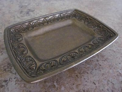 Vintage Brass Tone Soap Dish or Ring Tray # BF 151