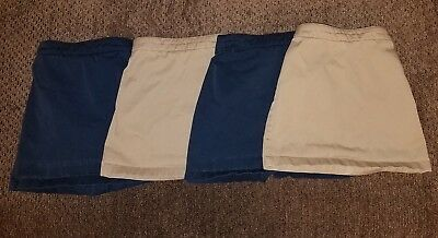 Land's End girls uniform skort size 5s - lot of 4