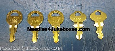 Rockola Jukebox Cabinet Key, Your Choice of One #F486, F592, F593, P600 or P1200