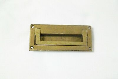 Vintage Brass Adams & Westlake Chicago Antique Lift Handle Flush Drawer Pull