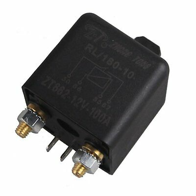 Car Auto Support Heavy Duty Split Charge DC 12 Volts 100 Amperes Relay 4 Pin
