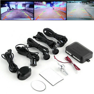 Parking 4 Sensors Car Reverse Backup Rear Buzzer Radar System Kit Sound Alarm CA