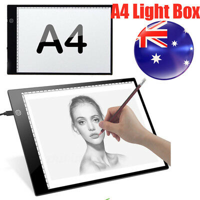 Adjustable Brightness A4 LED Stencil Board Drawing Tracing Light Box AU Local