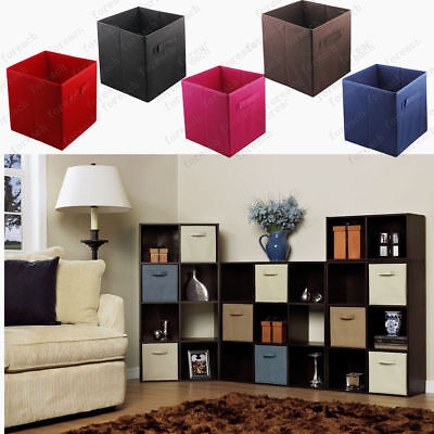 Genial 2018 Home Storage Bins Organizer Fabric Cube Boxes Basket Drawer Container  6Set